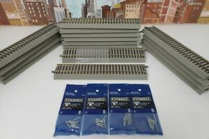 Lot Of 15 American Flyer S Gauge 6-49852 & 6-49854 Fast Track Terminal Sections