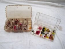 Lot Vintage Hand Tied Fly Fishing Dry Flies Lures Trout Estate Collection