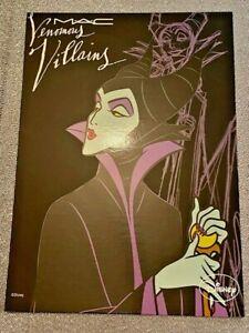 Mac cosmetics disney postcard venomous villians Maleficent rare makeup collect
