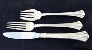 3 PIECE Reed & Barton Eighteenth Century Sterling Silver Flatware