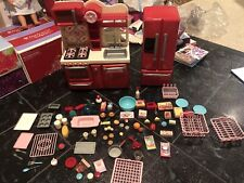 """Our Generation Pink Gourmet Doll Kitchen Set Food 18"""" Target American Girl"""