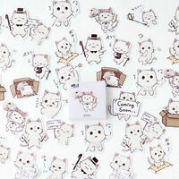 45Pcs Stationery Stickers DIY Diary Label Box-packed Cute Cat Sticker Decoration