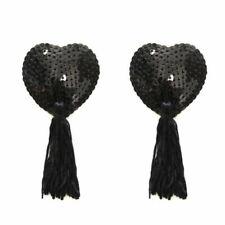2 pairTassel Pasties Nipple Covers Stick on Breast Bra Lingerie Burlesque Tassel