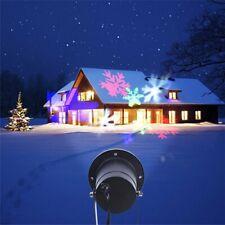 Outdoor Christmas Laser Projector Snowflake LED Snow Lights UK plug 12 Patterns
