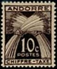 """ANDORRE FRANCAIS STAMP TIMBRE TAXE N° 21 """" CHIFFRE-TAXE 10c. """" NEUF x TB"""