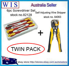 2 in 1 6pc 1000V Screwdriver Set & Self Adjusting Wire Stripper Combo