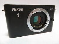 Nikon J1 Mirrorless 10.1MP Black DSLR Tested Camera Body