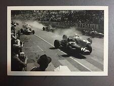1962 Grand Prix of Monaco F1 Start Jesse Alexander Postcard Post Card RARE!!