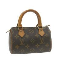LOUIS VUITTON Monogram Mini Speedy Hand Bag M41534 LV Auth gt563
