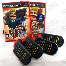 Buzz: The Big Quiz, Music Quiz + Buzzers for Playstation 2 PS2 *1ST CLASS POST*