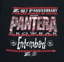 L * vtg 90s 1994 PANTERA Z102.7 Detroit VULGAR DISPLAY OF PARTIES t shirt