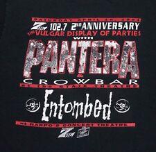 L * vtg 90s 1994 PANTERA Z102.7 Detroit VULGAR DISPLAY OF PARTIES t shirt