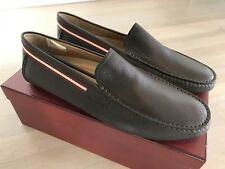 550$ Bally Drupo Brown Leather Driver Size US 12.5 Made in Italy