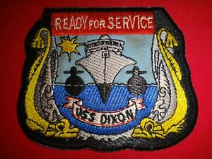 US Navy Patch USS DIXON AS-37 Submarine READY FOR SERVICE