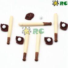 5 sets 1:12 baseball bat glove Miniature Scene Model Scale Dollhouse Accessories