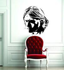 Wall Sticker Decal Vinyl  Interior Design Nirvana Kurt Cobain Rock Music Courtne