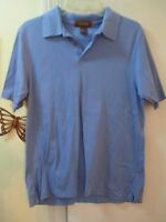 Tasso Elba - Blue Polo Shirt - Size S - 100% Mercerized Pima Cotton - S/Sleeves