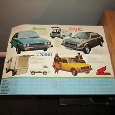 Honda Accord Civic 1200 2 3 puertas 1500 TN360 Tn 360 camión van Reino Unido Folleto 1970s