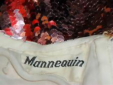 MANNEQUIN PureSilkRainbowSequinParty Sz12/14 circa$1000
