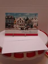 Christmas Cards Country Town Scene 20 ct boxed Season's Greetings Image Arts