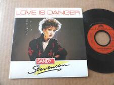 """DISQUE 45T DE SANDY STEVENSON  """" LOVE IS DANGER """""""