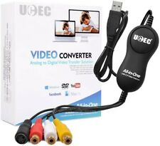 UCEC USB 2.0 Video Capture Card Device, VHS VCR TV to DVD Converter for MAC, PC
