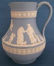 Wedgwood Jasper Ware Bleu carafe table classique scènes Made in England