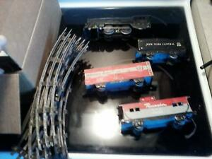 Marx  O scale Tin train set 1950's with track New York Central.  Pennsylvania