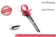 Anesthetic Dental Syringe 18ml Self Aspirating One Ring Syringe German Grade
