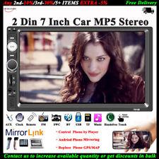 7'' 2 DIN Pantalla Táctil Coche Radio Bluetooth Estéreo MP5 TF/USB/AUX/FM/Remote