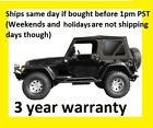 Black Replacement Soft Top And Rear Tinted Windows 97-06 For Jeep Wrangler Tj