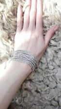 New Sparkly Shiny Clear White Austrian Crystal Tennis Chain Statement Bracelet