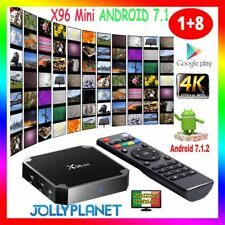 X96 Mini Android 7.1 Nougat S905W 1GB 8GB KODI TV BOX 4K IPTV Decoder Smart TV