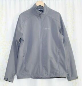 Marmot Gray Full Zip Fleece Lined Windstopper Softshell Jacket Men's Large