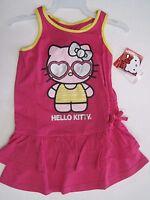Hello Kitty Girls Ruffle Sleeveless Dress Size 4 5/6 6x