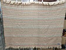 "Brown & Cream Pendleton Wool Blanket - 70"" x 52"" (Nh)"
