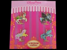 Disney Parks Trading Pin Kingdom Carousel Horses Booster Set With 4 Pins