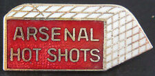 ARSENAL HOT SHOTS Rare vintage badge Brooch pin In gilt 34mm x 16mm