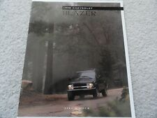 1998 Chevy Blazer Sales Brochure