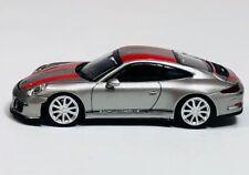 Minichamps 1/87 HO Porsche 991 911 R Silver/Red 2016 PLASTIC REPLICA 870 066221