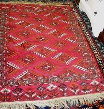 "RED BALUCHISTAN 6'6"" x 4'5'' Antique Tribal Nomadic Wool Area HandMade Rug"