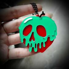 "POISON APPLE NECKLACE 2"" Acrylic Pendant Snow White Wicked Witch Disney Inspired"