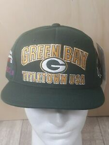 Green Bay Packers Titletown Super Bowl XXXI Champs Vintage Hat NWT