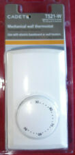 Cadet Single Pole 22 Amp Mechanical Wall Mount Heating Dial Thermostat T521-W