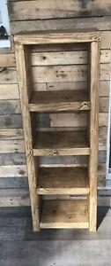 Tall Chunky Rustic Bookcase/shelving Unit. reclaimed pine. dark oak.