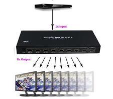 DUPLICADOR HDMI 8 PUERTOS 1X8 HDMI SPLITTER 1 ENTRADA 8 SALIDAS 1080P 3D (108)