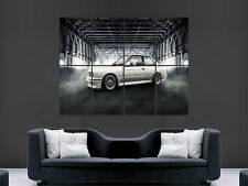 BMW CAR CLASSIC E30 WHITE  ART HUGE GIANT POSTER PRINT