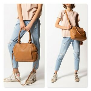 STATUS ANXIETY |  Womens Force of Being Large Tan Leather Bag / Handbag