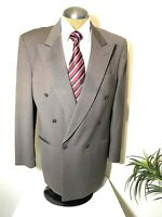Biella Made For Kuppenheimer Double Breasted Mens Suit Jacket Brown Italy 43R