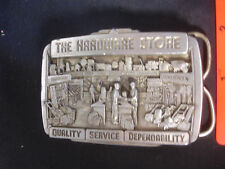 Collectible Limited Edition 1987 The Hardware Store Die Cast Metal Belt Buckle